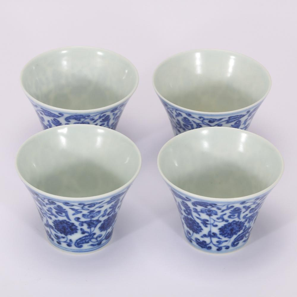 CHINESE BLUE WHITE PORCELAIN CUP