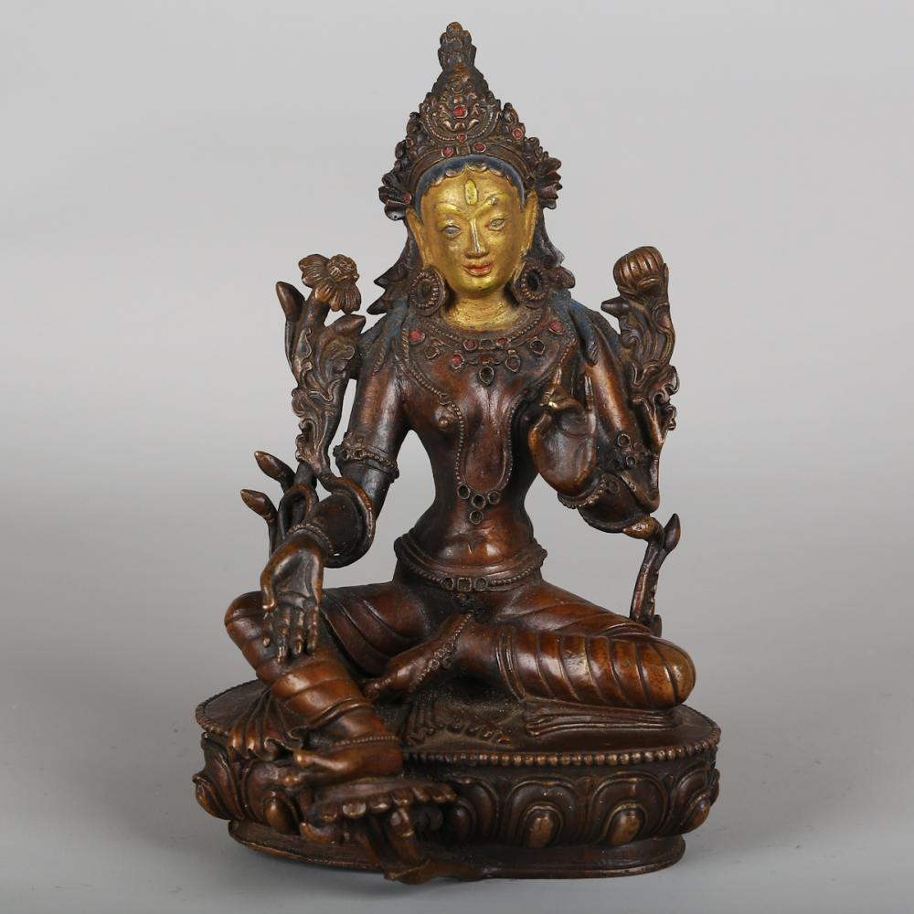 CHINESE BRONZE FIGURE OF TARA