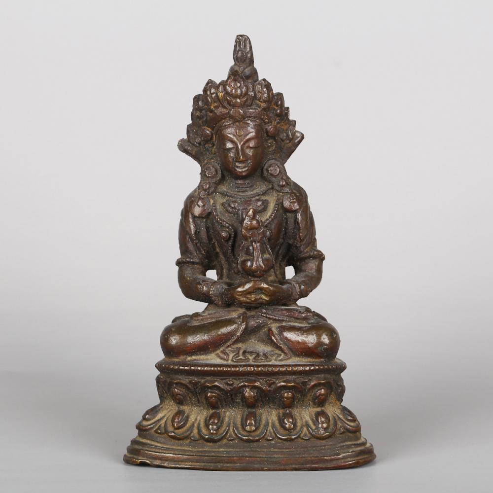 CHINESE BRONZE BUDDHIST FIGURINE