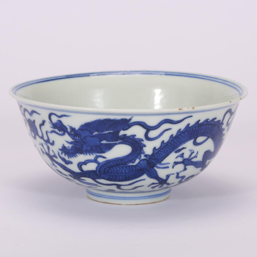 CHINESE BLUE WHITE PORCELAIN BOWL