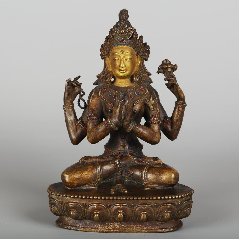 CHINESE BRONZE FIGURE OF NAMGYALMA