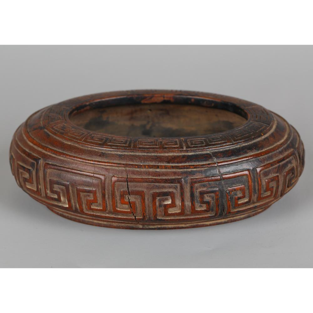 CHINESE BAMBOO CARVED BRUSH WASHER