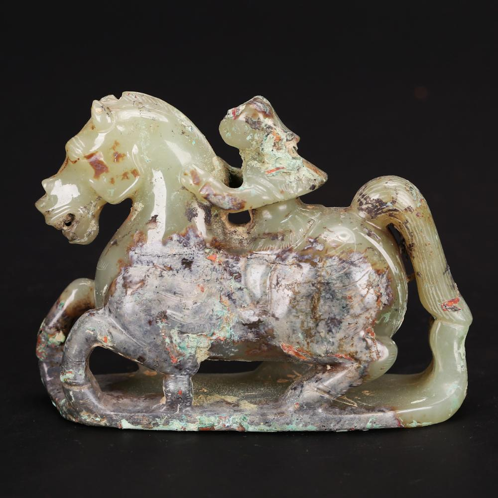 CHINESE JADE CARVED HORSE