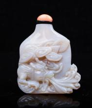 CHINESE QING DYNASTY OPAL SNUFF BOTTLE