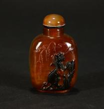 A AGATE SNUFF BOTTLE
