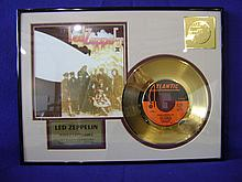 Led Zeppelin 24 kt gold plated