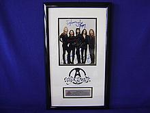 Aerosmith band member autographs