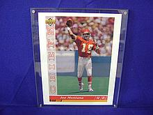 Oversized Joe Montana Kansas City Chiefs card