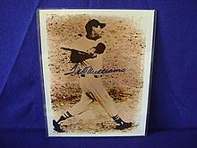 Autographed Ted Williams photograph