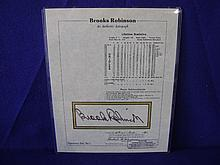 Autograph of Brooks Robinson