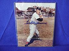 Autographed photo of Ted Williams