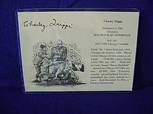 Charley Trippi Autograph