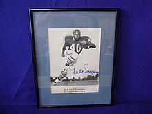 Autographed photo of Gale Sayers