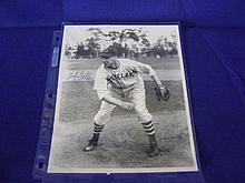 Autographed photo of Bob Feller