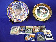 Assorted Nolan Ryan collectible items