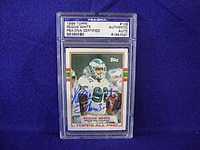 Autographed 1989 Reggie White Topps card #108