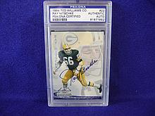 Autographed 1994 Ray Nitschke Ted Williams Co. #22 card