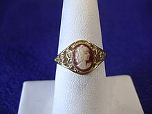 Vintage Cameo and 10k Ring
