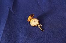 Lady's Elgin Gold With Diamonds Pocket Watch