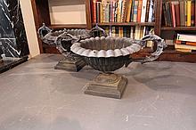 Victorian Cast Iron Garden Urns