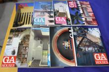 Set of Eleven Volumes of Global Architecture:  GA Houses.