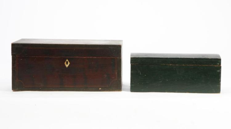 (2) COUNTRY PINE BOXES in PAINT