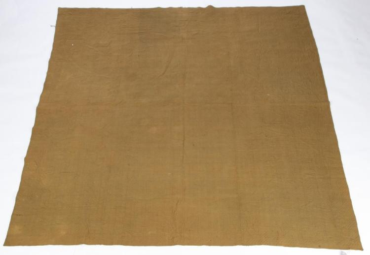 LINSEY WOOLSEY OLIVE COVERLET
