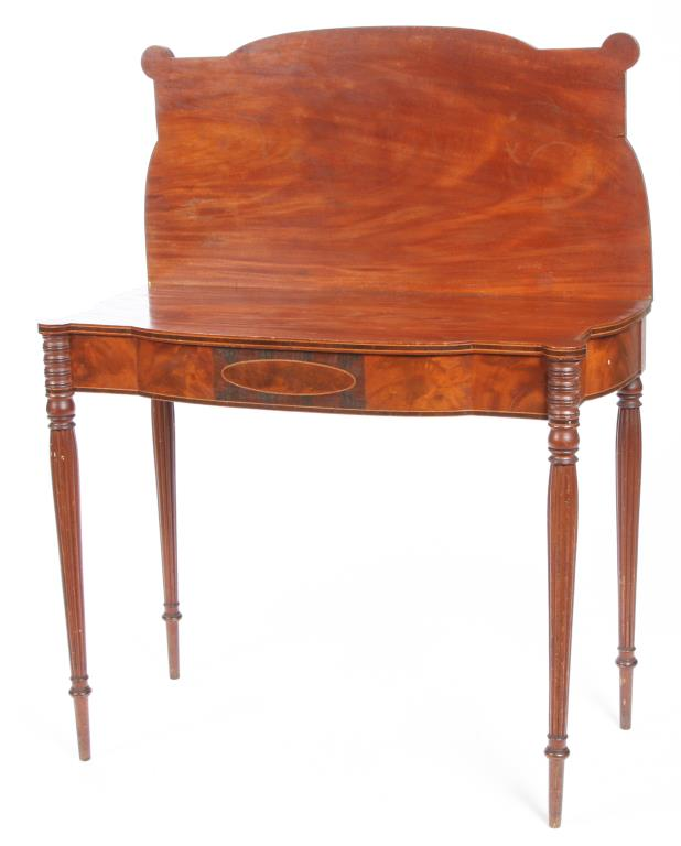 PORTSMOUTH FEDERAL PERIOD MAHOGANY CARD TABLE