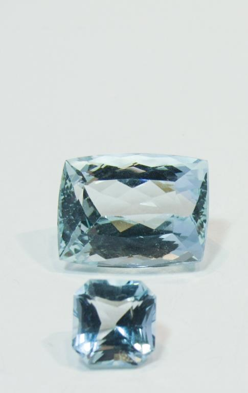 A 12CT AQUAMARINE W/ ANOTHER