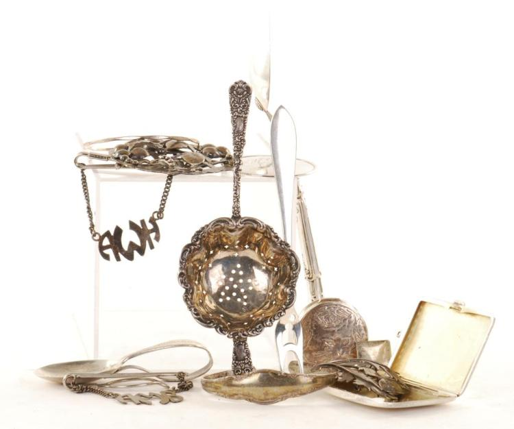 LOT OF STERLING SILVER JEWELRY ETC.