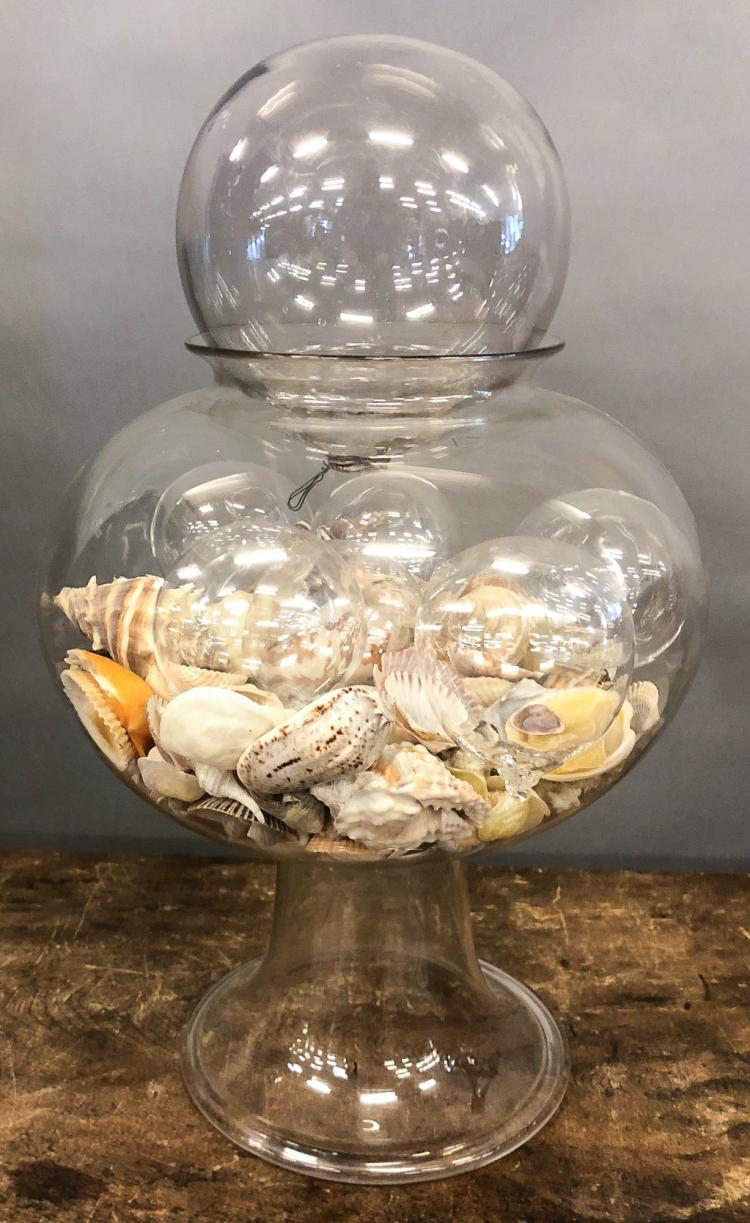 EARLY BLOWN GLASS FISH BOWL
