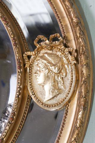 Fancy gilt oval mirror for Fancy oval mirror