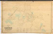 1874 MAP OF EXETER NH by SANFORD & EVERTS