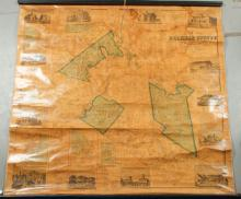 1859 WALL MAP OF BELKNAP COUNTY NEW HAMPSHIRE