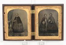 (2) AMBROTYPES OF ROOME FAMILY HALIFAX NOVA SCOTIA