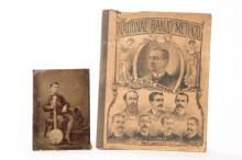 TIN TYPE OF BOY WITH BANJO & NATIONAL BANJO METHOD