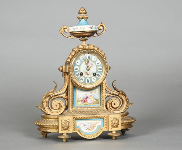PH MOUREY FRENCH MANTLE CLOCK