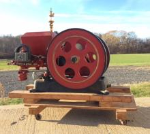 STOVER CAST IRON HOPPER COOLED GAS ENGINE c.1910