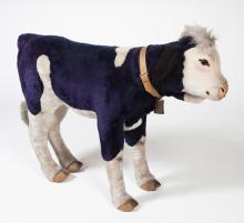 STEIFF LIFE SIZE CALF with COW BELL on COLLAR