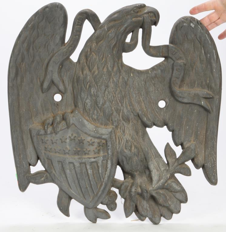LARGE CAST IRON AMERICAN EAGLE WITH SHIELD