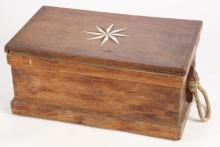 CAMPHOR WOOD SEA CHEST with KNOTWORK BECKETS