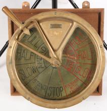 HENSCHEL CORP AMESBURY LARGE BRASS SHIPS TELEGRAPH