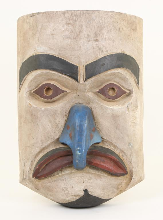 PACIFIC NORTHWEST CARVED AND PAINTED HOUSE MASK