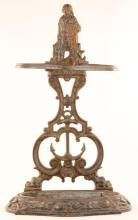 CAST IRON FISHERMAN UMBRELLA STAND