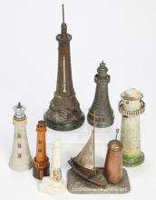 (7) MINIATURE LIGHTHOUSES with VARIOUS FUNCTIONS