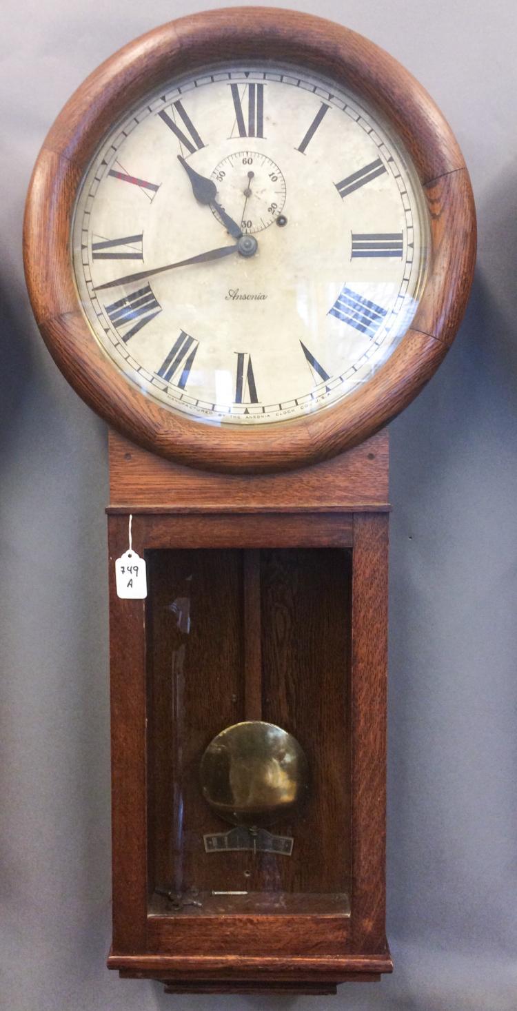 ANSONIA OAK WALL CLOCK