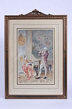 Bernard Louis Borione (French, b. 1865) Duet