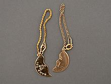 14k Gold Milt Ebbins Friendship Charms