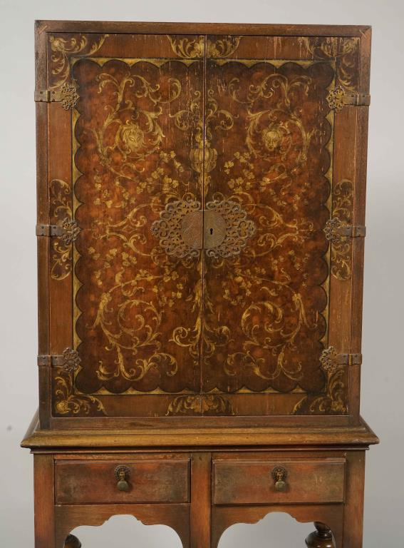 20th c dutch baroque style cabinet on stand for Dutch baroque architecture