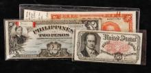 UNITED STATES FRACTIONAL & PHILIPPINES TWO PESOS